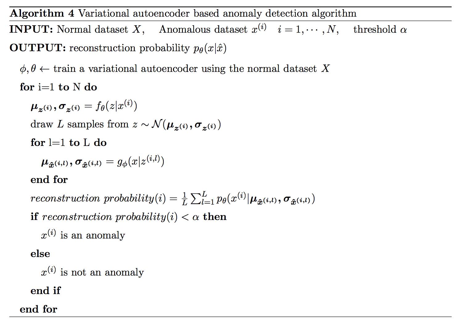 Variational Autoencoder based Anomaly Detection using
